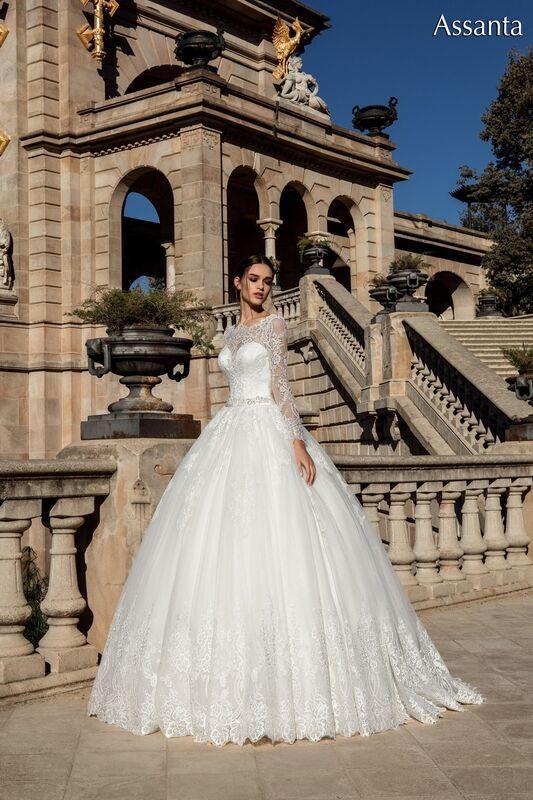 Свадебное платье напрокат Bonjour Платье свадебное «Assanta» из коллекции LA POESIE 2017 - фото 5