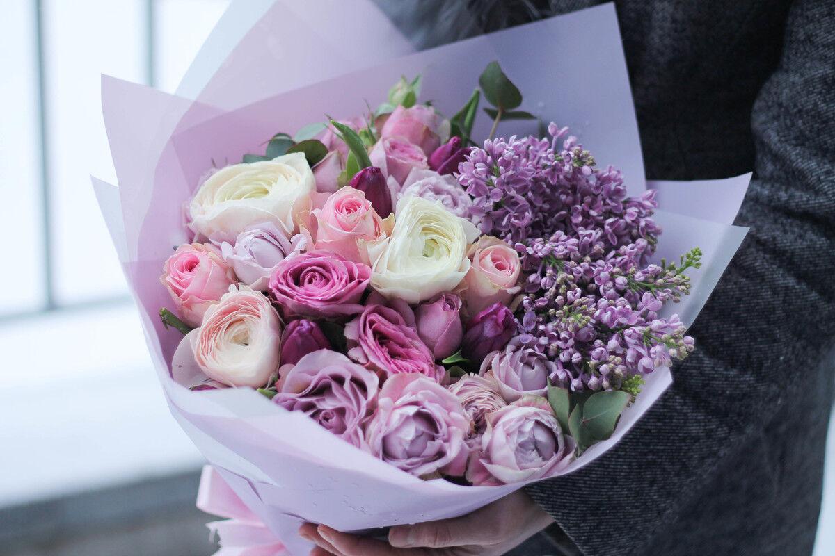 Магазин цветов Cvetok.by Букет «Бархатный закат» - фото 1