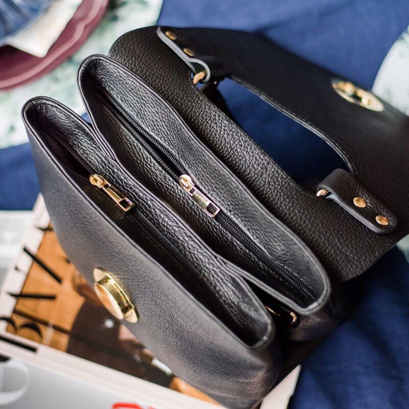 Магазин сумок Vezze Кожаная женская сумка C00443 - фото 3