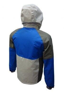 Спортивная одежда Free Flight Мужская мембранная горнолыжная куртка серо-синяя - фото 2