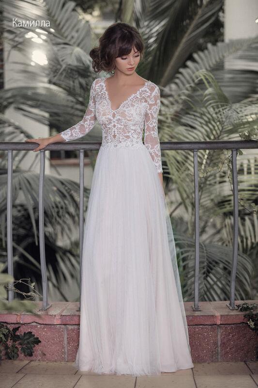 Свадебное платье напрокат Vintage Платье свадебное «Камилла» - фото 1