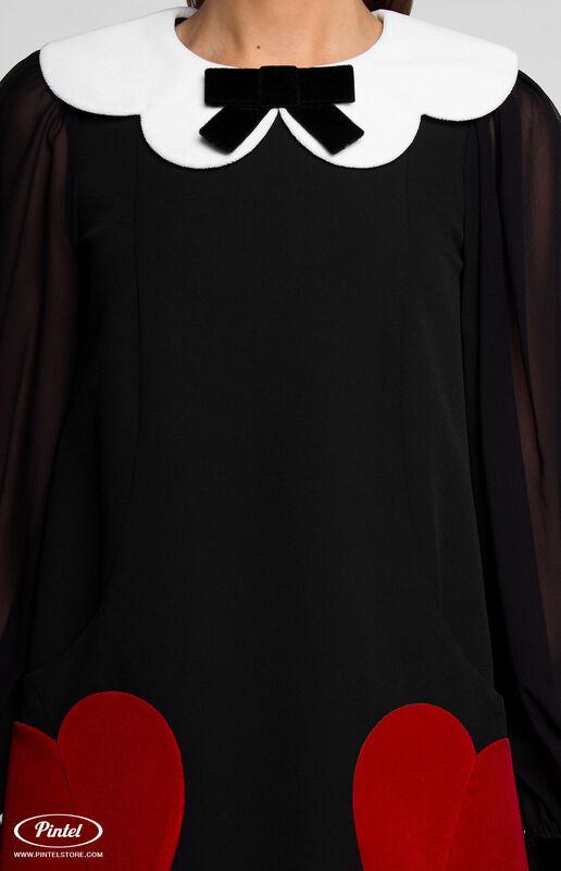 Платье женское Pintel™ Платье А-силуэта из натуральной шерсти TIFFANY - фото 5