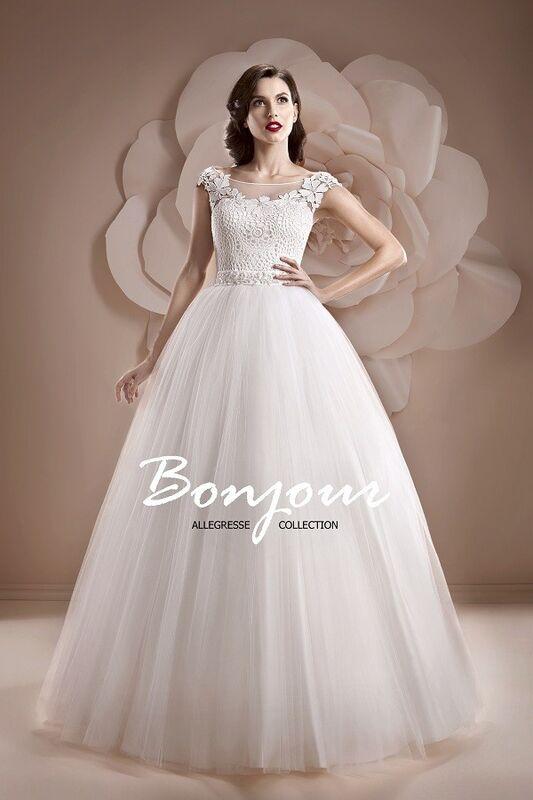 Свадебное платье напрокат Bonjour Платье свадебное «Edera» из коллекции ALLEGRESSE 2017 - фото 1