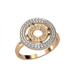 Ювелирный салон jstudio Золотое кольцо с различными фианитами 10262 - фото 1