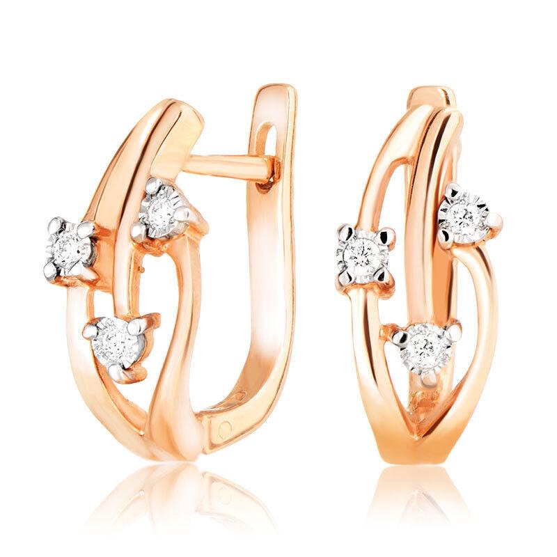 Ювелирный салон Jeweller Karat Серьги золотые с бриллиантами арт. 3222684/9 - фото 1
