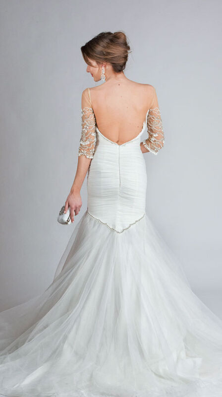 Свадебное платье напрокат Tarik Ediz Свадебное платье «Рыбка» - фото 2