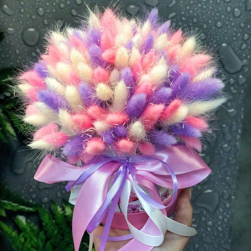 Магазин цветов Кошык кветак Коробочка из сухоцветов размер S - фото 1