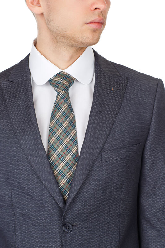 Костюм мужской HISTORIA Костюм серый с заостренным лацканом - фото 3