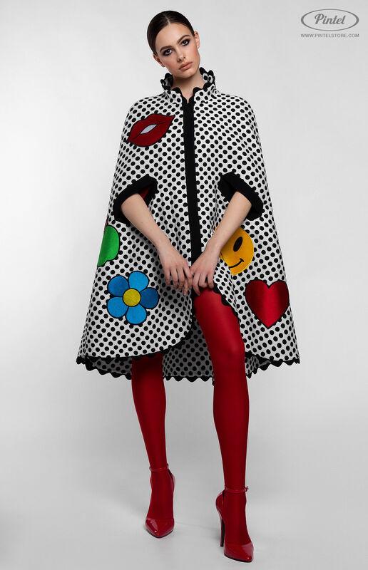 Верхняя одежда женская Pintel™ Романтичный кейп в горошек Jacqueline - фото 1