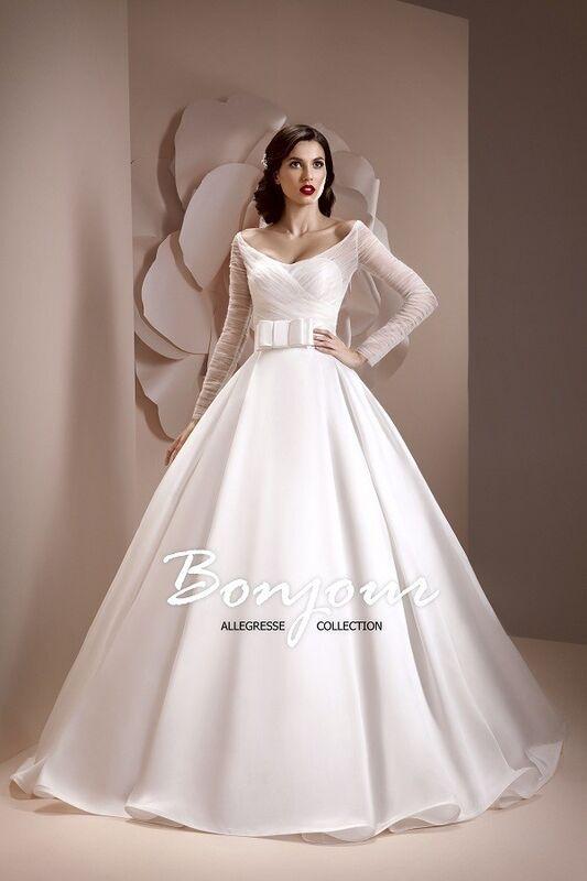 Свадебное платье напрокат Bonjour Платье свадебное «Kira» из коллекции ALLEGRESSE 2017 - фото 2