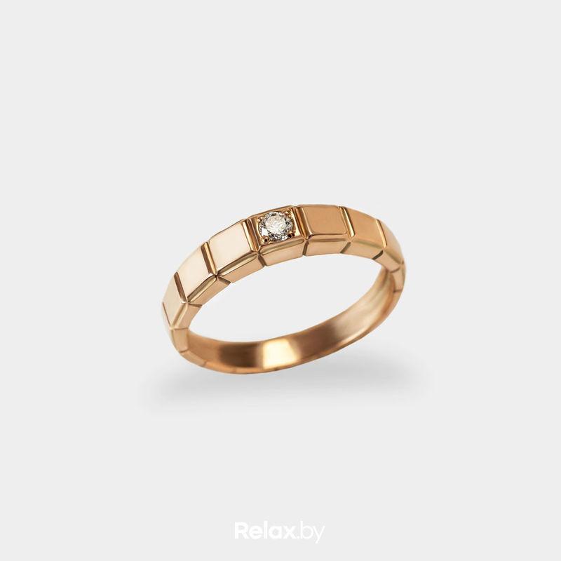 Ювелирный салон Белорусские Бриллианты Кольцо из золота со вставкой бриллиант синт. 21010049 - фото 1