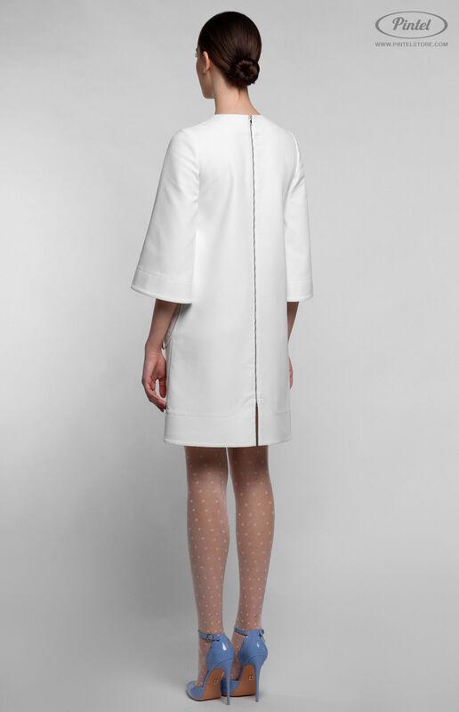 Платье женское Pintel™ Белое мини-платье А-силуэта NETTA - фото 3