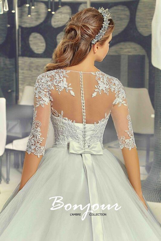Свадебное платье напрокат Bonjour Платье свадебное «Ivet» из коллекции LAMBRE 2017 - фото 4