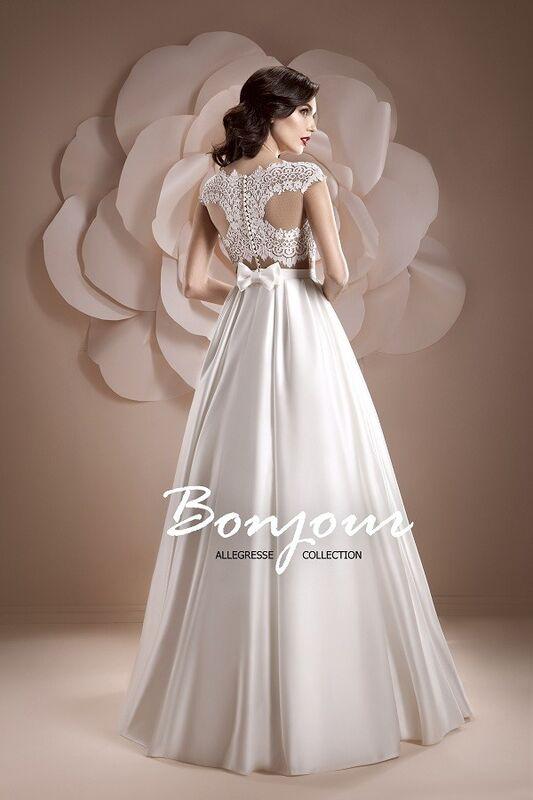 Свадебное платье напрокат Bonjour Платье свадебное «Ember» из коллекции ALLEGRESSE 2017 - фото 2
