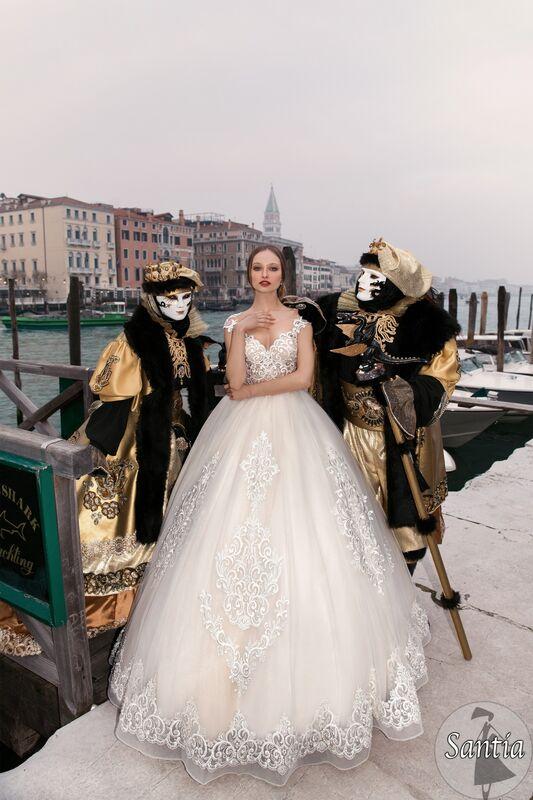Свадебное платье напрокат Bonjour Galerie Платье свадебное «Santia» из коллекции LE DELICE - фото 4