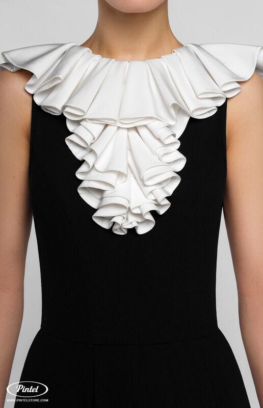 Брюки женские Pintel™ Приталенный чёрный макси-комбинезон без рукавов Ulker - фото 4