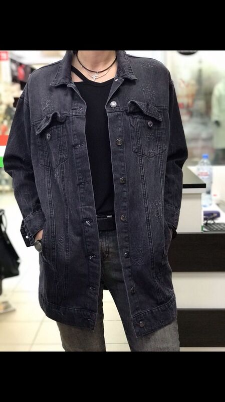 Верхняя одежда женская It's me! (Это Я!) Джинсовая курточка в темно сером цвете - фото 1