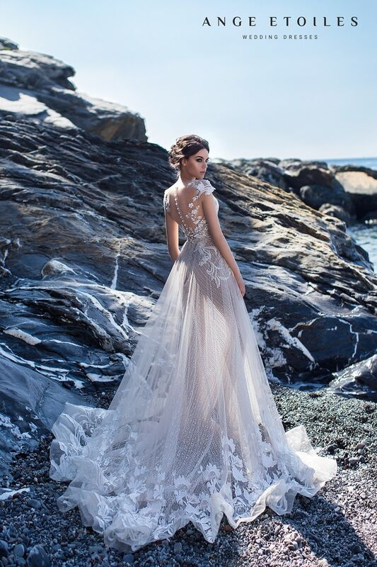Свадебное платье напрокат Ange Etoiles Свадебное платье Ali Damore Diel - фото 3