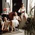Вечернее платье Кураж Вечернее платье белое с красным поясом - фото 3