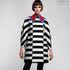 Платье женское Pintel™ Контрастное оп-арт мини-платье свободного силуэта Davia - фото 1