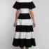 Платье женское Pintel™ Комбинированное чёрно-белое приталенное миди-платье Awa - фото 2