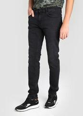 Брюки мужские O'stin Чёрные зауженные мужские джинсы MP1W42-99