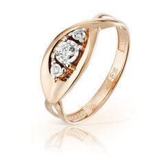 Ювелирный салон Jeweller Karat Кольцо золотое с бриллиантами арт. 3213507/9
