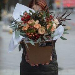 Магазин цветов VETKA-KVETKA Коробочка с цветами