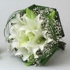 Магазин цветов Фурор Круглый букет из лилий