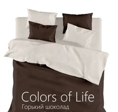 Подарок Голдтекс Однотонное белье семейное «Color of Life» Горький шоколад