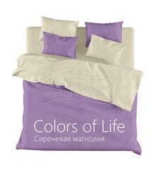 Подарок Голдтекс Полуторное однотонное белье «Color of Life» Сиреневая магнолия