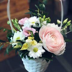 Магазин цветов Кошык кветак Букет - композиция в корзине №3