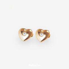 Ювелирный салон Белорусские Бриллианты Серьги из золота со вставкой бриллиант синт. 31020003