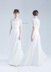 Свадебный салон UNONA Свадебное платье «Бринна белое с болеро» из коллекции JADE 2016