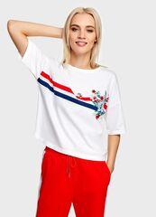 Кофта, блузка, футболка женская O'stin Футболка с принтом женская LT4U3B-00