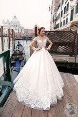 Свадебное платье напрокат А-силуэт Bonjour Galerie Платье свадебное «Feydra» из коллекции LE DELICE