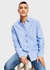 Кофта, рубашка, футболка мужская O'stin Рубашка с принтом из хлопка MS4U13-60