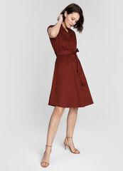 Платье женское O'stin Хлопковое платье на поясе LR4W84-R7
