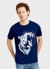 Кофта, рубашка, футболка мужская O'stin Футболка с принтом «тигр» MT1S85-69