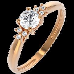 Ювелирный салон ZORKA Кольцо из розового золота с фианитом 210654.14K.R