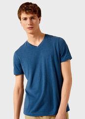 Кофта, рубашка, футболка мужская O'stin Футболка мужская с V-горловиной MT6V32-66