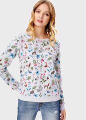 Кофта, блузка, футболка женская O'stin Толстовка в цветочный принт LT4T82-92