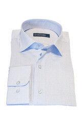 Кофта, рубашка, футболка мужская HISTORIA Рубашка белая в мелкий рисунок (клетка)