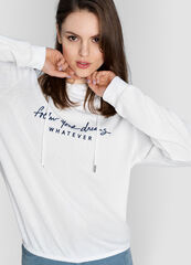 Кофта, блузка, футболка женская O'stin Толстовка с капюшоном из трикотажа LT1W62-02