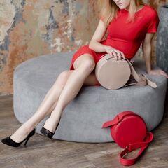 Магазин сумок Vezze Кожаная женская сумка C00486