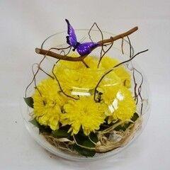 Магазин цветов Планета цветов Цветочная композиция в стекле №10