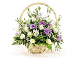 """Магазин цветов Долина цветов Корзина с цветами """"Чудесное мгновение"""""""