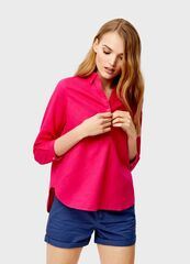 Кофта, блузка, футболка женская O'stin Льняная рубашка-туника LS4SA3-X5