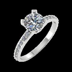 Ювелирный салон ZORKA Кольцо из серебра с фианитом 0210082