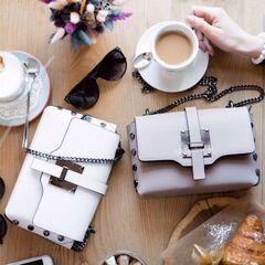Магазин сумок Vezze Кожаная женская сумка C00479